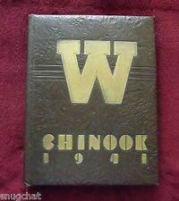 The Chinook 1941 Washington State College Students Annual Yearbook Pullman WA