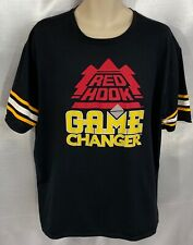 """RED HOOK BEER """"GAME CHANGER"""" T-SHIRT BLACK SIZE XL VERY GOOD CONDITION      DC11"""