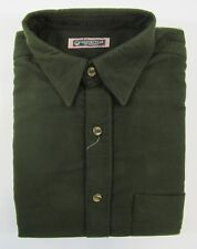 Adults Mens 100% Moleskin Shirt Button Up Olive Green Casual Thick M L XL XXL