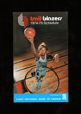 >Orig./GEM 1974-75 Portland Trailblazers BASKETBALL POCKET SCHEDULE Bill Walton