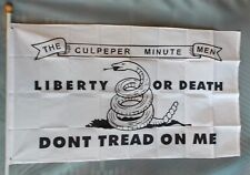 Culpeper Liberty or Death Gadsden Dont Tread on Me Polyester 2x3 Foot Flag Ft