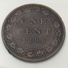 1896 Canada One 1 Cent Large Penny Circulated Canadian Coin F711