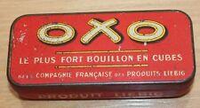 ancienne  boite publicitaire bouillon  oxo produit liebig