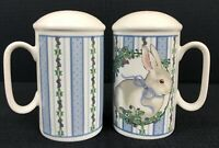 Stove Top Salt And Pepper Shakers Bunny On Blue George Good By Fabrizio Japan