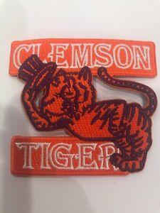 "CLEMSON U - Clemson Tigers RARE Vintage Embroidered Iron On Patch 3"" X 2.75"""
