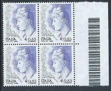 2004 ITALIA LA DONNA NELL'ARTE 0,85 EURO QUARTINA MNH ** - C0-2