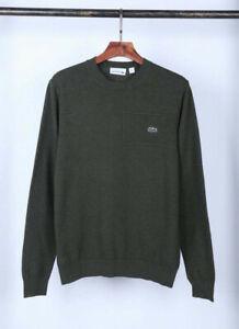 Lacoste Herren Sweater Pullover grün olive green NEU