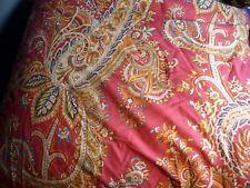 Ralph Lauren Paisley Stripe Reversible Queen/Full Comforter Burgundy Red Rare