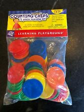 Learning Resources 5 Color Counting Chips Numbers Education Preschool Tokens