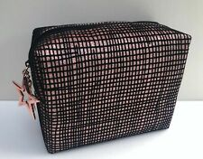 MAC Black & Pink Makeup Cosmetic Bag, Travel Pouch Purse, Brand New!