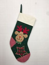 """23"""" REINDEER STOCKING. Aunt Joys Personalized Christmas Stockings. Made In USA"""