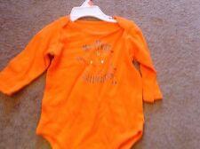0-3-6 m boys girls my first halloween long sleeve top orange pumpkin NWT one pc