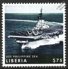 USS PHILIPPINE SEA (CV-47) Essex-Class Aircraft Carrier Warship Stamp