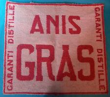 """RARE TAPIS DE CARTE """" ANIS GRAS """" DES ANNÉES 40/50 Ref 302761866275"""