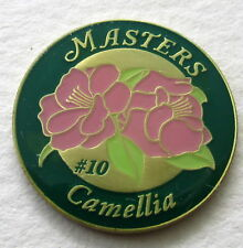 2018 Augusta MASTERS  BALL MARKER Celebrating HOLE #10,  CAMELLIA
