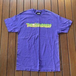 The Hundreds Size L Purple T Shirt Mens Casual Crew Neck