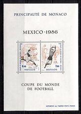 MONACO 1986, SPORT:  MEXICO WORLD SOCCER CUP, Scott 1532 SOUVENIR SHEET, MNH