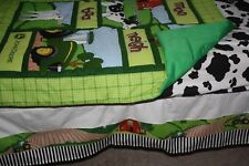 Farm animals john deere Crib Bedding