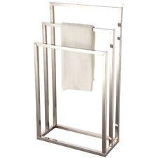 3 Tier Towel Holder Floor Standing Bathroom Storage Rack Rail Hanger Chrome Unit