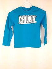 Est. 1989 Place NEW Boy's sz S 5/6 Blue Cotton Long Sleeve Crewneck Shirt