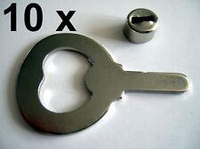 10 x Metallteil Klinge + Hülse für Flaschenöffner Kapselheber Länge 69 mm