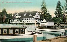 Vintage Postcard The Casino Tallac Lake Tahoe CA Passenger Boats El Dorado CO