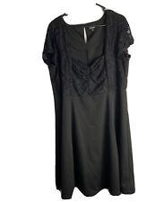 Torrid Dress Size 2 Plus Size Women 2X Solid Black Lace Sweetheart