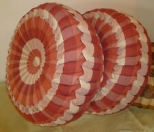 Custom Made Round Pillows Plaid/ Red for sofa/ bed Throw Decorative.