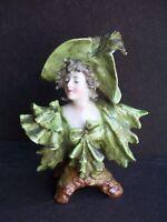 Antique Rudolstadt Germany Art Nouveau Porcelain Miniature Female Bust Figurine