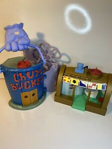 SpongeBob SquarePants Krusty Krab & Chum Bucket Playset 2012 Mattel Imaginext