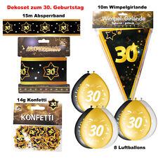 Deko Set 30. Geburtstag  Party 30 Jahre Dekoration Jubiläum Zubehör