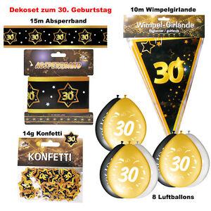 30. Geburtstag  Deko Set 30 Jahre Party Dekoration Zubehör Girlanden Ballons