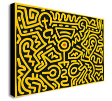 Keith Haring - Number IV - Pop Art - Canvas Wall Art Framed Print Various Sizes
