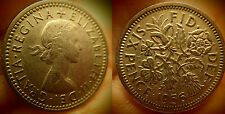 "Two 1956 UK Coins Sixpence For Wedding - ""Something Old Something New"" .59 s/h"