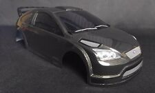 1/10 RC Coche PC de fibra de carbono estilo Body Shell 190mm Ford Focus Rs Wrc Tamiya