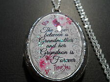GLASS CAMEO LOCKET THE LOVE BETWEEN A GRANDMOTHER AND HER GRANDSON IS FOREVER