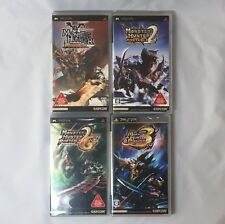 PSP Monster Hunter Portable 1st,2nd,2ndG,3rd Set [Japanese Version] Used JP Game