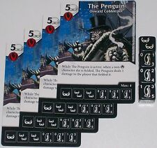 4 X THE PENGUIN: OSWALD COBBLEPOT 70 World's Finest DC Dice Masters