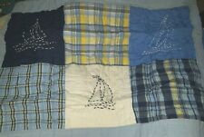 NEW Pottery Barn Kids SAILBOAT Set Sail SHAM Surf boys standard