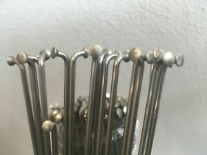 Spokes/nippls Silver.60 trough310mm.12G(2.6mm).straight gauge.stainless.18pc.set
