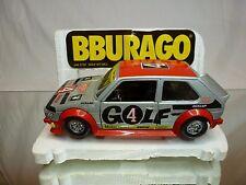 BBURAGO 0197 VW VOLKSWAGEN GOLF GT1 gr2 - HEUER PLAYBOY - SILVER 1:24 - GOOD