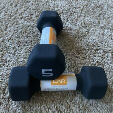 5LB Dumbbell CAP Black Neoprene Hex Hand Weight Dumbell (set= 10lb total)