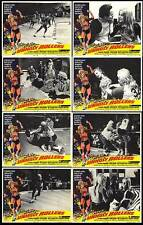 UNHOLY ROLLERS lobby card set CLAUDIA JENNINGS 11x14 movie posters ROLLER DERBY