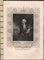 C1830 Georgiano Estampado ~ Samuel First Viscount Campana
