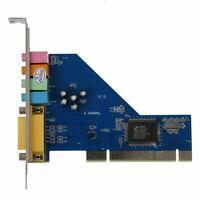 1X(4 Channel C-Media 8738 Chip 3D Audio Stereo Internal PCI Sound Card Win F4V4