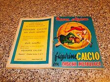 ALBUM CALCIATORI FIGURINE CALCIO DISCHI METALLICI 1957 1958 VAV COMPLETO BELLO
