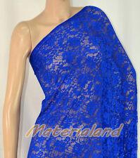"160cm(63"") Width Blue 4-Way Stretch Spandex Lace Fabric DIY Dress Making LC01F"
