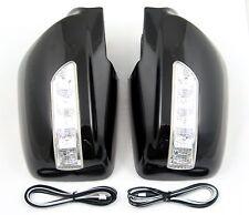 Accesorio para Kia Sportage hasta 2008 Cubierta de Espejo Indicador Led Negro