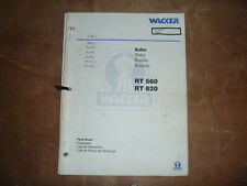 Wacker Neuson Rt 820 Trench Roller Compactor Parts Catalog Manual 7642