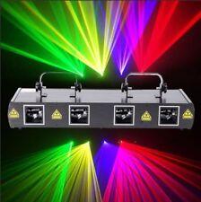460mW 4 Lens 4 Beam RGPY DJ Disco Laser Stage Light DMX 7CH Club Bar Party Light